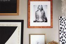 ideas for hanging art / by Joyce MacFarlane