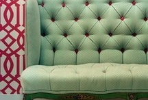 Tuft Love / Tuft ~ To pass threads through layers of upholstery, securing the thread ends with a knot or button.  { Tufted Furniture } / by Vicki ❥