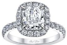 Halo Engagement Rings / Our Halo engagement ring collection features micropavé-set diamonds.  Each ring is created especially for a specific customer.  If you have questions about creating a halo ring for you or for a specific diamond shape, please do not hesitate to contact us.  Please visit our custom engagement ring gallery at the link:  http://www.debebians.com/custom-made-engagement-rings.html / by deBebians