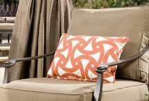 Custom Outdoor Drapery by DrapeStyle / We love to help you convert your outdoor space with incredible handmade drapery featuring fabrics by Sunbrella, Trina Turk and Schumacher.  You choose the pleat style and we'll make your drapes in 4-5 weeks.  Call us for any assistance 800-760-8257.  www.DrapeStyle.com / by DrapeStyle