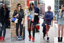 Wedge sneakers / how to use wedge sneakers / by Raquel Bernaola