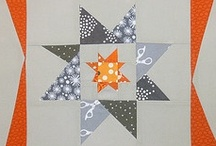 Pleasing Pieced Quilts: Stars / Star quilt patterns often rely on the use of diamond shapes rather than triangles. Of course, the diamonds may be sewn with triangles, and the star may be done with only triangles;  the diamond  shape, however constructed, is often (but not always) present. It's easy to see that the pattern is a star. / by Elise Buhn