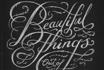 Typography, Calligraphy and Lettering / by Rhianna Reeve