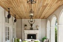Wood plank ceilings / by Robin Grey