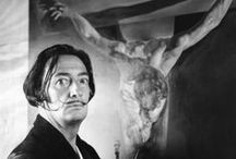 SᗩLVᗩDOR☀DᗩLI /  Salvador Domingo Felipe Jacinto Dalí i Domènech, 1st Marqués de Dalí de Pubol, known as Salvador Dalí, was a prominent Spanish Catalan surrealist painter born in Figueres, Spain.  I love art as I've said before - therefore I am intrigued by the many different artists.  Born: May 11, 1904, Spain  Died: January 23, 1989, Spain  Spouse: Gala Dalí (m. 1934–1982)   -  One that keeps catching my eye and showing up on many of my boards is Salvador Dali.  I find him . . . interesting?  / by Granny Pat