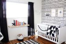 baby | modern b&w nursery / modern black & white nursery / by Melissa K