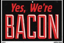 Bacon Nerd #baconnerd / Bacon, bacon and more bacon.  Check out baconintheoven.com  / by Lauren Susman