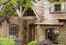 """A Home Among Trees  / In the mountains, by the lake, in the woods...big or small, doesn't matter.  A little rustic, maybe a tiny bit of color...Peaceful & comforting.   Lots of rock, stone, and wood (and some green?)...inside and out, Including pins of my dream yards with trees for miles. :)  This is my """"I'm getting back to nature"""" board! :)  / by Michele Seat"""