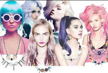 Sick colored hair / Cotton candy pink, or platinum blonde, wigs, weaves, we want it all!  / by Denise Teti