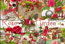Rose Garden Collection / A rose themed digital scrapbook collection. / by Raspberry Road Designs