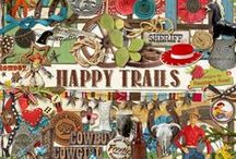Happy Trails Collection / A huge cowboy themed scrapbook collection. / by Raspberry Road Designs