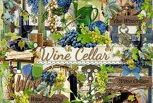 Wine Cellar Collection / A beautiful wine themed digital scrapbook collection. / by Raspberry Road Designs