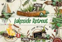 Lakeside Retreat Collection / A camping/fishing themed scrapbook collection. / by Raspberry Road Designs