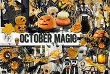 October Magic Collection / A elegant Halloween themed collection. / by Raspberry Road Designs