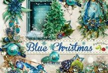 Blue Christmas / A beautiful blue/green Christmas themed scrapbook collection. / by Raspberry Road Designs