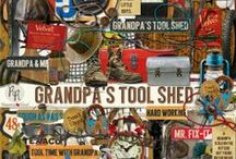 Grandpa's Tool Shed / A digital scrapbook kit dedicated to the love of grungy, rusty gold you find in an old tool shed. / by Raspberry Road Designs
