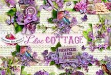 Lilac Cottage / A beautiful scrapbook kit filled with all things lilac and more. / by Raspberry Road Designs