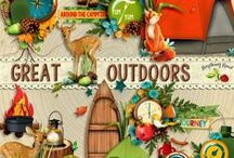 Great Outdoors Scrapbook Kit / A camping themed scrapbook collection from Raspberry Road. / by Raspberry Road Designs