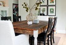 Home | Dining Rooms & Tables / It's where all good things happen in the home - around the table. / by Sandy | Reluctant Entertainer