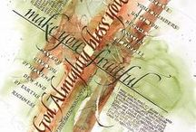 Lettering - Favorite / Calligraphy Ideas with Design / by Debbie Slavin
