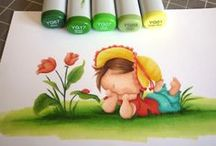 Copic colouring  / Copic colouring ideas and inspiration / by Natalie Stewart