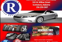 Russ's Auto & Tire Service /  Don't Fuss, Call Russ!  Let us help you keep your car in good condition. Stop by for free air, tire and brake inspections.  Russ's Auto & Tire Service, Inc,  Our Family, Serving Your Family. 533 W. Willow Street Scottsboro, Al 256-259-2307 / by Infinity Marketing Services
