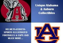 Unique Alabama and Auburn Collectables / Russell Scivally256.259.7547 Company Overview This Pinterest page is to show you how that the arrangement of items are framed or displayed is what makes your collectible look fantastic. / by Infinity Marketing Services