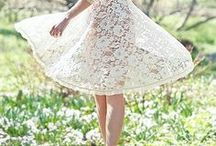 Lovely Lace / With the dainty floral details and the soft innocent colors, lace fabric holds a timelessness and beauty that has been unhindered through the years.  / by Ruche
