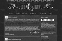 Premade Blog Designs / A list of fun and affordable one of a kind #premade #WordPress themes available at http://squeesome.com / by Squeesome Designs