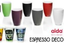 """Aida Thermo Mugs / Brilliant """"Thermo Mugs"""" from Danish company Aida - they keep the drink hot and your hands stay cool, without a handl! / by Espresso Deco"""
