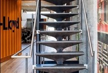 s t a i r s / stairs, staircases, balustrades, handrails / by Lisa Elley Art