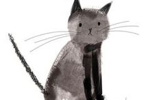 Illustrations: meow / by Sophie`s Corner