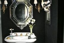 Goth Home: Bathery / For more grown up goth decor, check out my other home boards and follow my interior design blog at darkdwellings.tumblr.com / by Sarah Wednesday