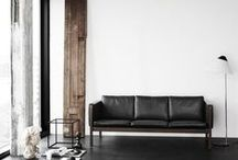 Black couch / by Catherine Lazure-Guinard | Nordic Design