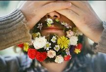 Flower Beards + Flower Crowns / hippie movement // facial hair // hipster hair trends // boho beauty // festival style / by Briton