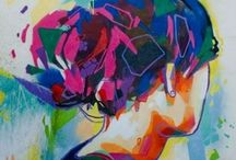 Art / Fine art / modern art. Contemporary and abstract paintings.  / by Flow Bo