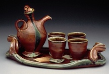 """Designer Teapots & Pottery Part II / This wasn't originally intended to be """"A Teapot Board,"""" but you all know how it is once we start pinning!  Now, it is predominantly """"A Teapot Board."""" You will find handmade pottery (not teapots) toward the lower end of the board.  PLEASE LIMIT ALL Pins to 6 at a time.  Overpinning destroys the diversity of this board.  Thanks.  Enjoy! / by Jeannie Guzman"""