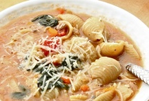 Savory Soups & Stews & Breads / We have Fall winds and the leaves are turning, and most of us are preparing for snow. Now is the time to stock the pantry with ingredients for savory soups and stews.  Let's begin with some good recipes and have fun pinning!  If we pin it, snow will come (whether we want it to or not)!  With the price of meat going thru the roof, we need to stretch it as far as possible; soup is a healthy alternative! There is an 8-10 pin limit on this board per visit.  Thanks.  Jeannie / by Jeannie Guzman
