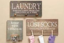 Laundry / ideas for my laundry area! a corner in our garage! / by Deanne Evans