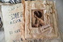 Altered or fabric books / Vintage books, laces, vintage images and embellishments, put together tastefully making a work of art... / by Jesse Rowan
