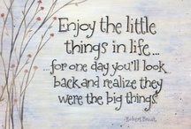 Enjoying the Little Things in Life / by Barbara Mansfield
