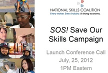 SOS - Save Our Skills / SOS - Save Our Skills is a National campaign sponsored by the National Skills Coalition to protect Federal Workforce Investment programs and training. (Like the WIA) / by BIN95.com Business Industrial Network