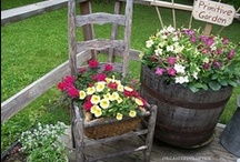 Garden Ideas / creative garden containers & plantings / by jan