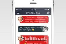 ✚ Ui • Socials / ✚ #userinterface #ui #ux #design #typograhy #colour #web #app #template #freebies ✚ / by Thomas Guibert