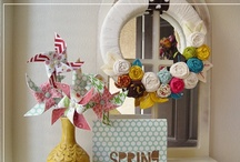 Wreaths / Hang it! Ideas for making all things wreaths. / by crafty texas girl