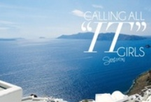 """it"" Girls @ Santorini / by Folli Follie"
