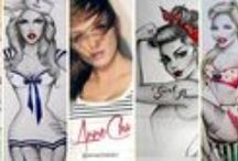 Anne Cha Art / Featuring the original pin-ups of Anne Cha.   On Twitter:  @annechaart / by Art of the Pin-Up Girl