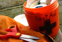 first aid and emergency survival items / by Teresa Barber