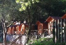 Cabañas Camping Playa de la Franca / Disponemos de bonitas cabañas de madera de 2,3 y 4 plazas, con tarifas especiales para los peregrinos del Camino del Norte / by Camping Playa de la Franca Bungalows-Asturias