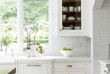kitchen + dining / Okay so it's pretty apparent, I love white kitchens. / by Sarah Dickerson